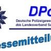 Presseerklärung der Vorsitzenden der DPolG Sachsen zu den menschenunwürdigen Vorfällen in Köln, Hamburg und Stuttgart.