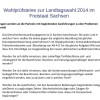Wahlprüfsteine zur Landtagswahl 2014 im Freistaat Sachsen