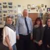 Die Landesvorsitzende der DPolG SN und die Leitung des KV Chemnitz zu Besuch bei Präsident Reißmann