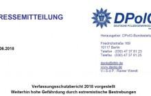 Presseerklärung der DPolG Bund zum Verfassungsschutzbericht 2018