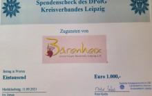 Spendenübergabe des KV Leipzig an das Kinderhospiz Bärenherz Markkleeberg am 11.09.2021