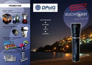 Flyer Leuchtwert-Deckblattteil DPolG