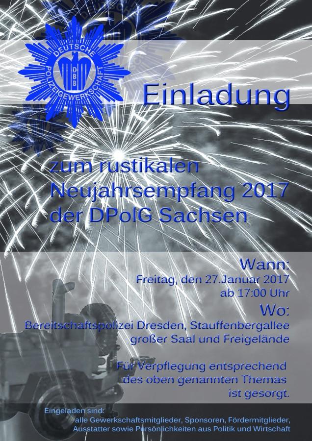 Plakat Neujahrsempfang 2017