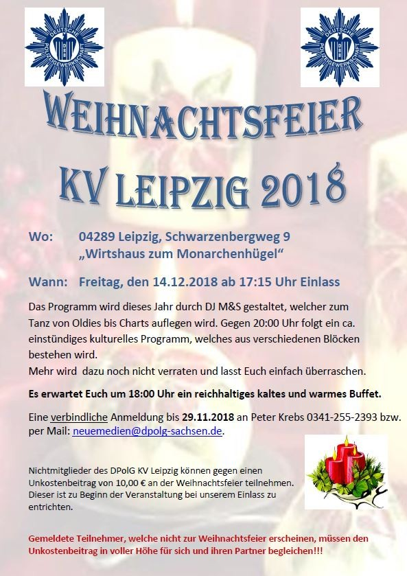 Weihnachtsfeier KV Leipzig